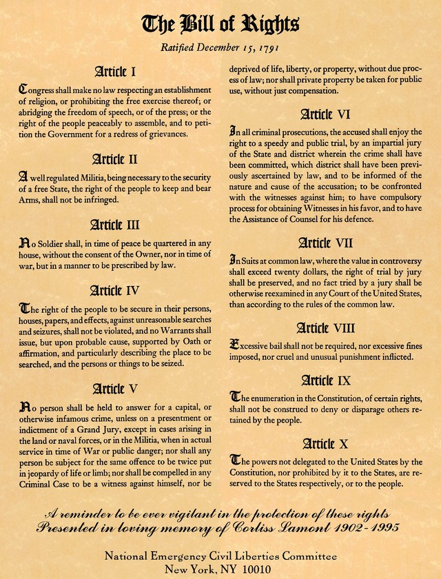 Yes, the Bill of Rights Applies to Terror Suspects (1/3)