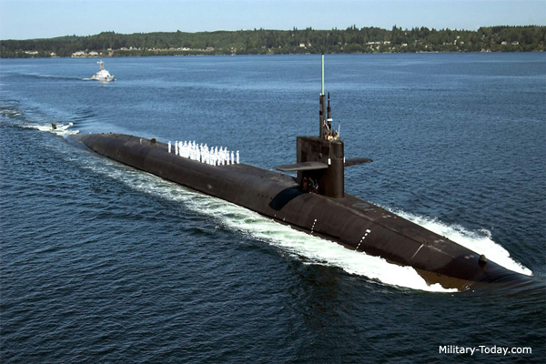 With the ability to carry 192 nuclear warheads, just one Ohio-class submarine is the world's sixth largest nuclear power.