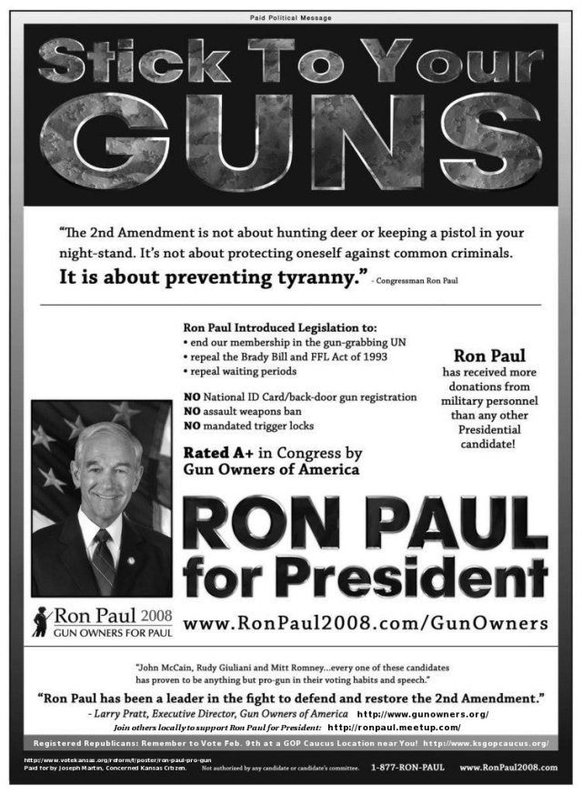 "First response to this on Facebook: ""If only Ron Paul had won."""