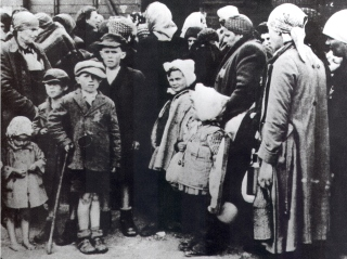 Jews from Hungary arrive at Auschwitz.
