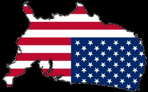 upside down flag map