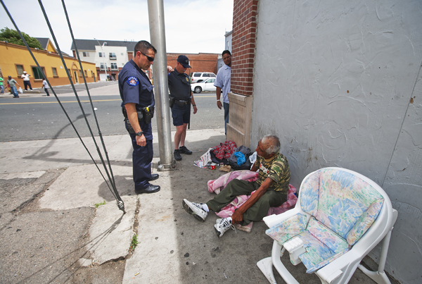 colfax cops homeless