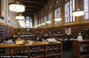 Yale's law library.