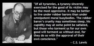 cs lewis tyranny