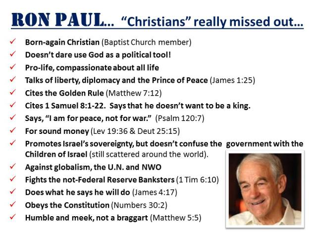 ron paul Christian