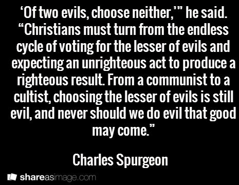 spurgeon 2 evils
