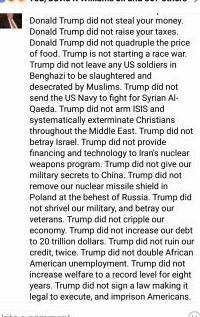 trump didn't 1 reason