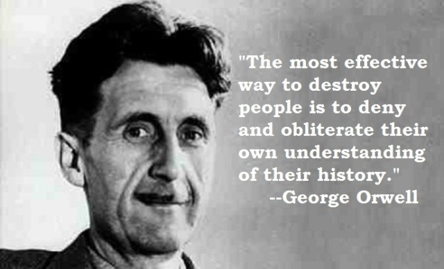 orwell destroy history