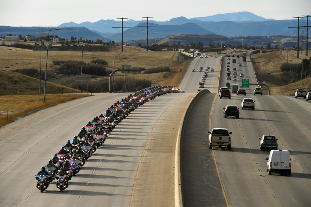 Funeral procession for slain Douglas County deputy Zackari Parrish