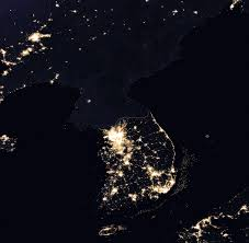 korea at night wikimedia