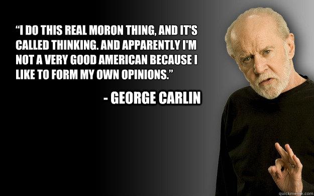 thinking carlin quickmeme